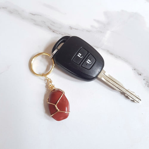 Gemstone Keyring - Red Jasper