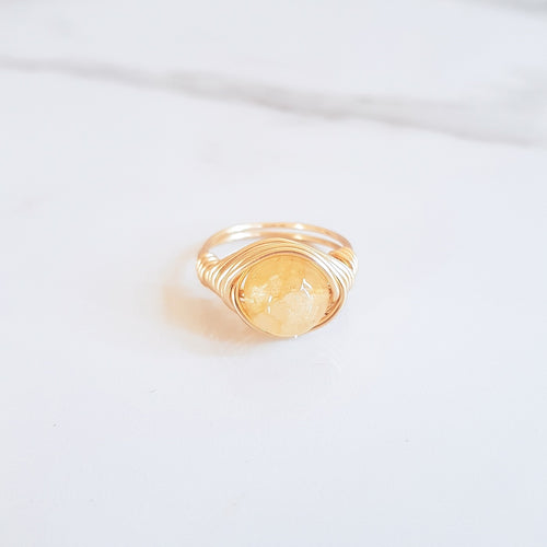 Full Moon Ring - Citrine