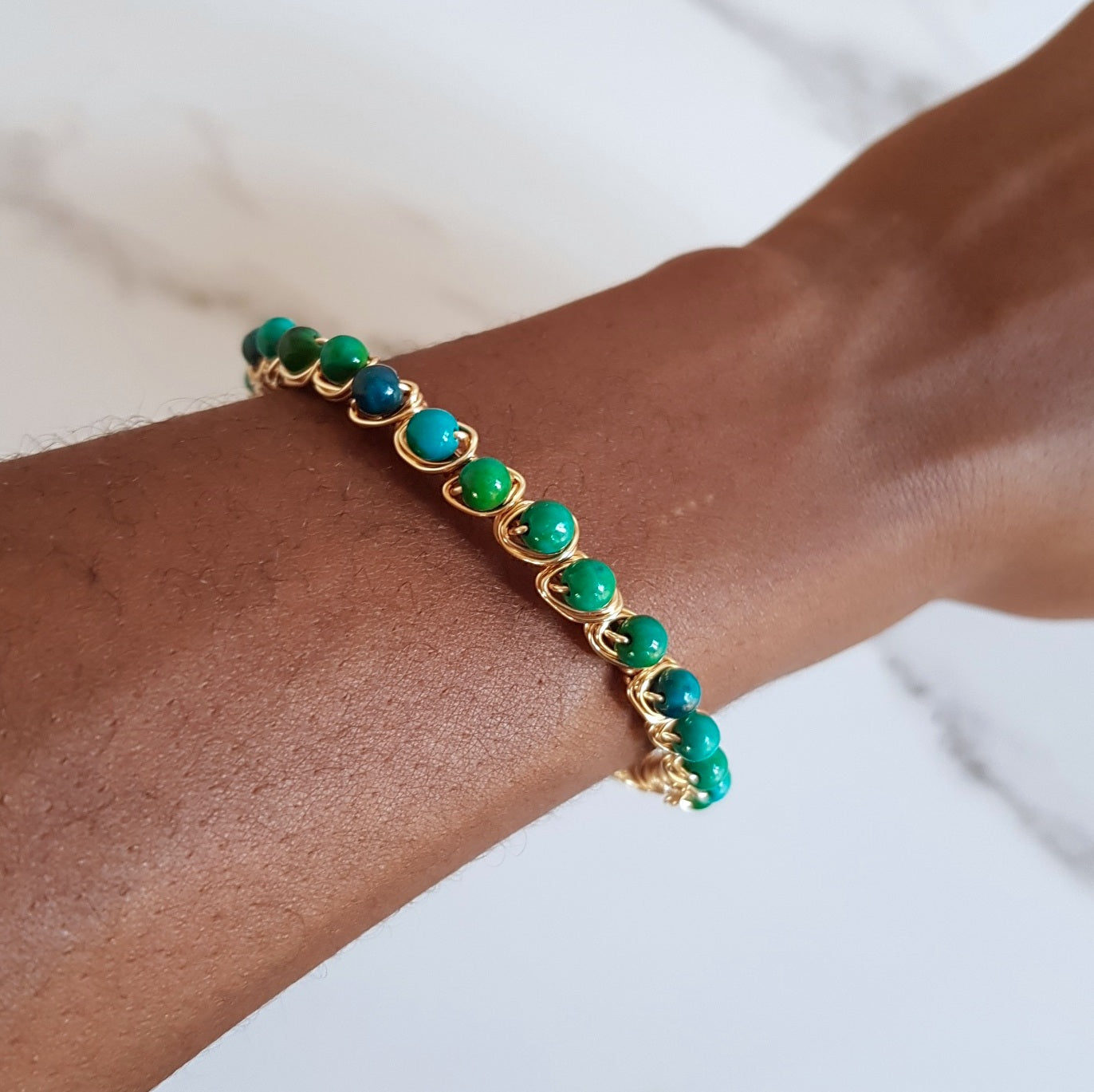 Crown Cuff- Chrysocolla