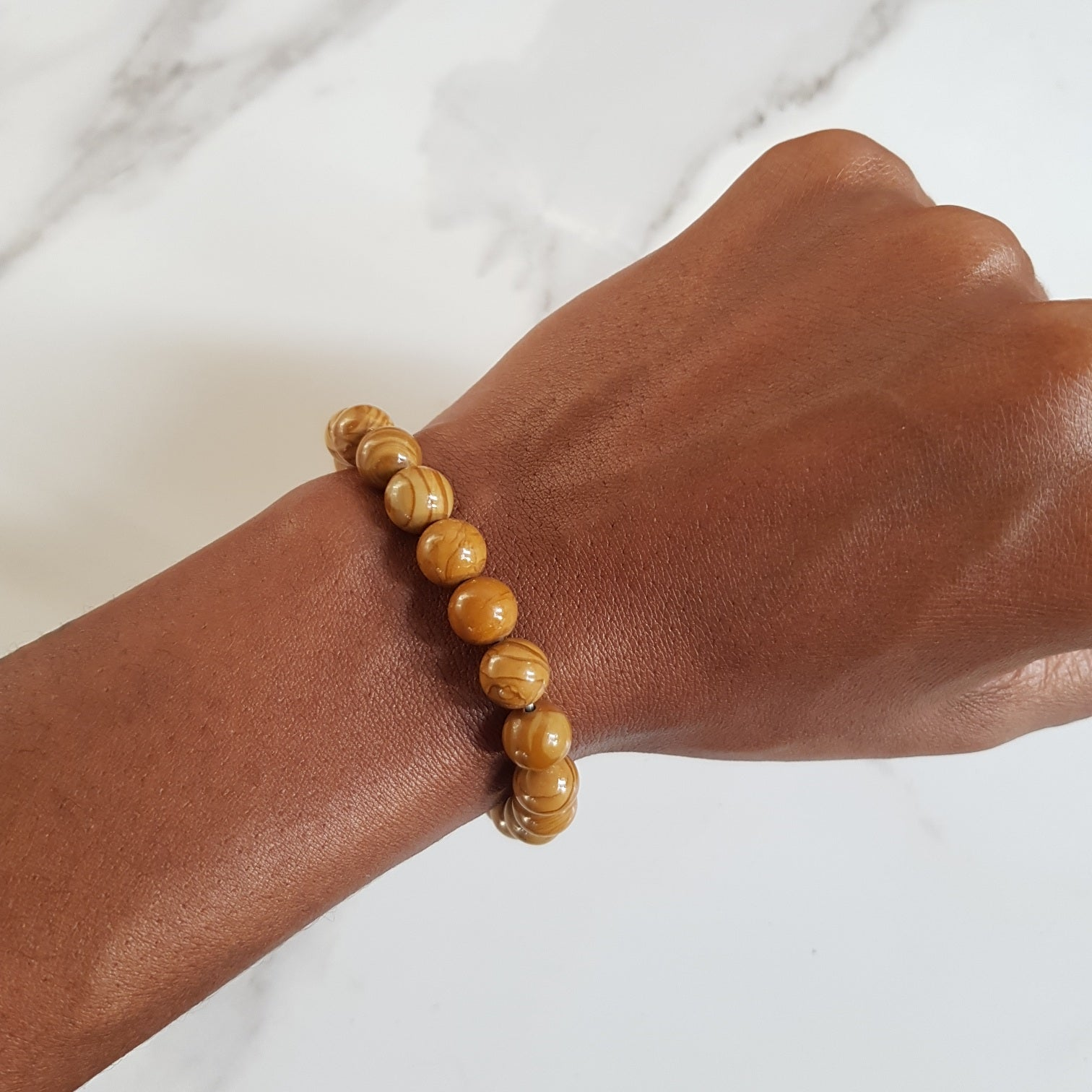 Stretch Bracelet - Picture Jasper