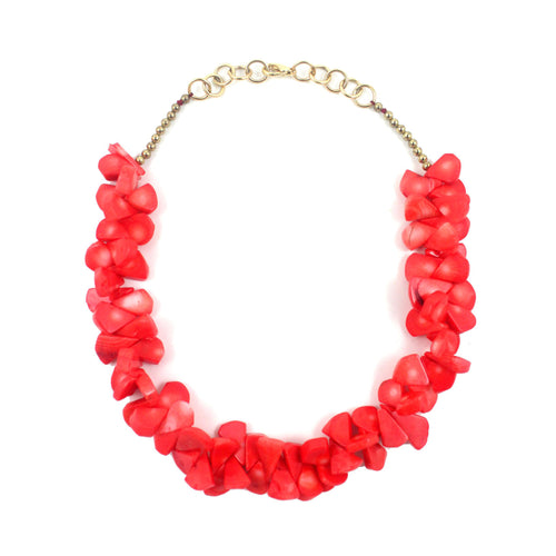 May Necklace - Coral