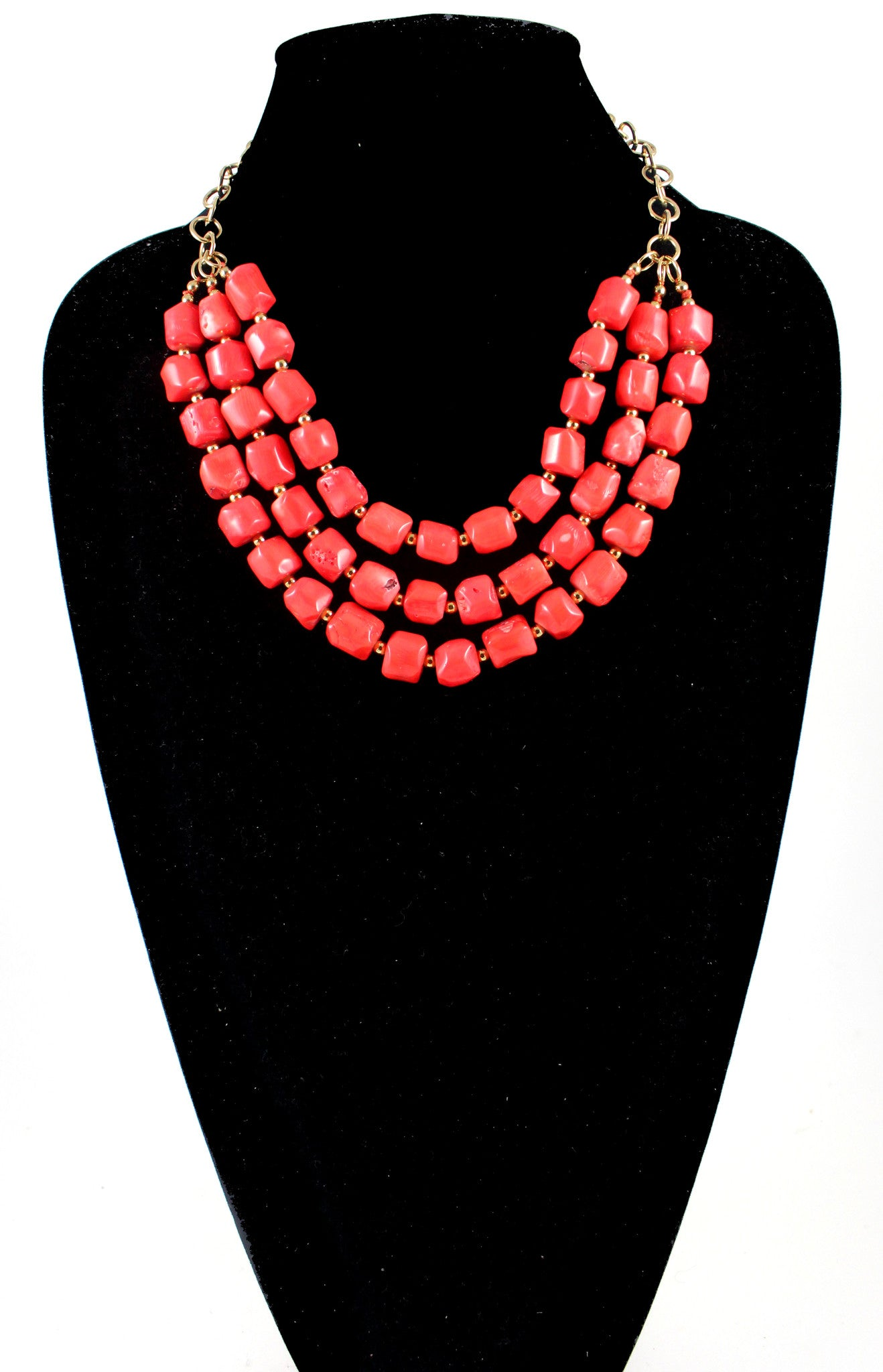 Catalina Necklace- Orange Coral