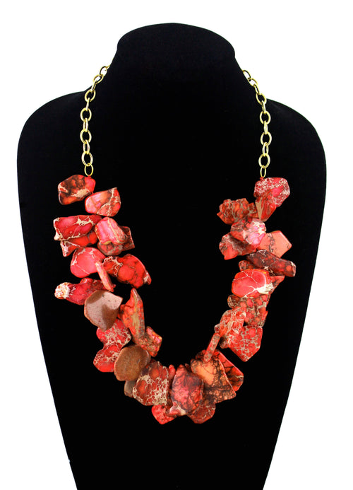 Miami Necklace- Impression Jasper