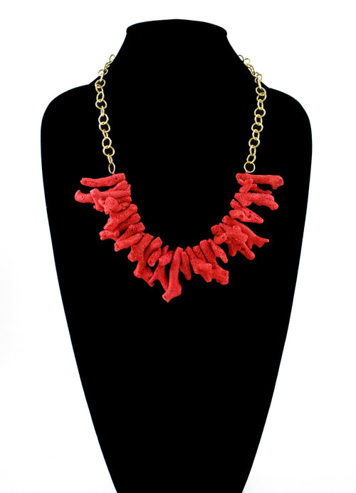 Oistins Necklace - Red Coral