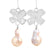 "From ""Bows Galore"" collection ""Sterling silver earrings with a dangling baroque pearls"