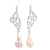 Barouque pearl accent earrings in sterling silver.