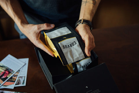 Corvus Coffee Bag design