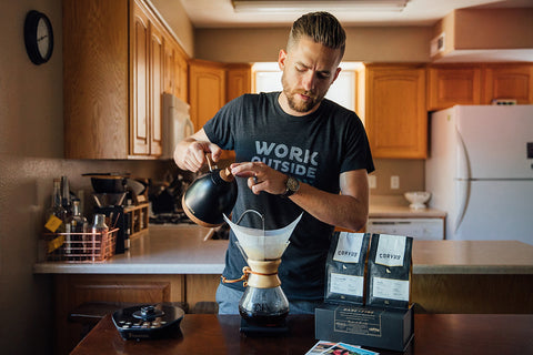 Direct trade coffee subscription chemex