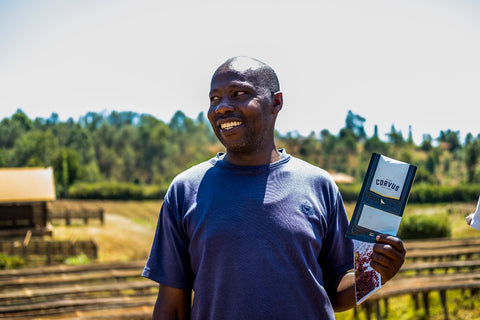Kii Kenya coffee farmer
