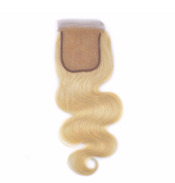 Russian blond 613 Bodywave Closure grade 6A