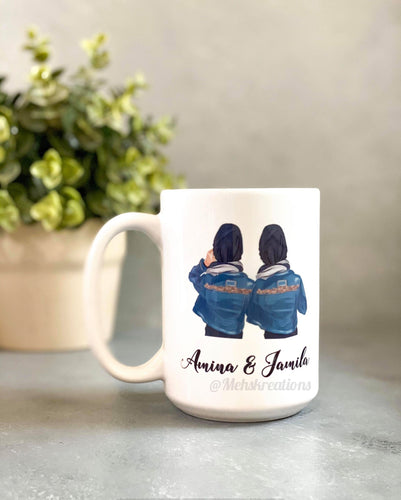 Hijabi Best Friend Mug Soul Sister Mug