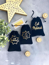 Load image into Gallery viewer, Ramadan Mubarak Favor Bags, Eid Mubarak favor bags, customizable