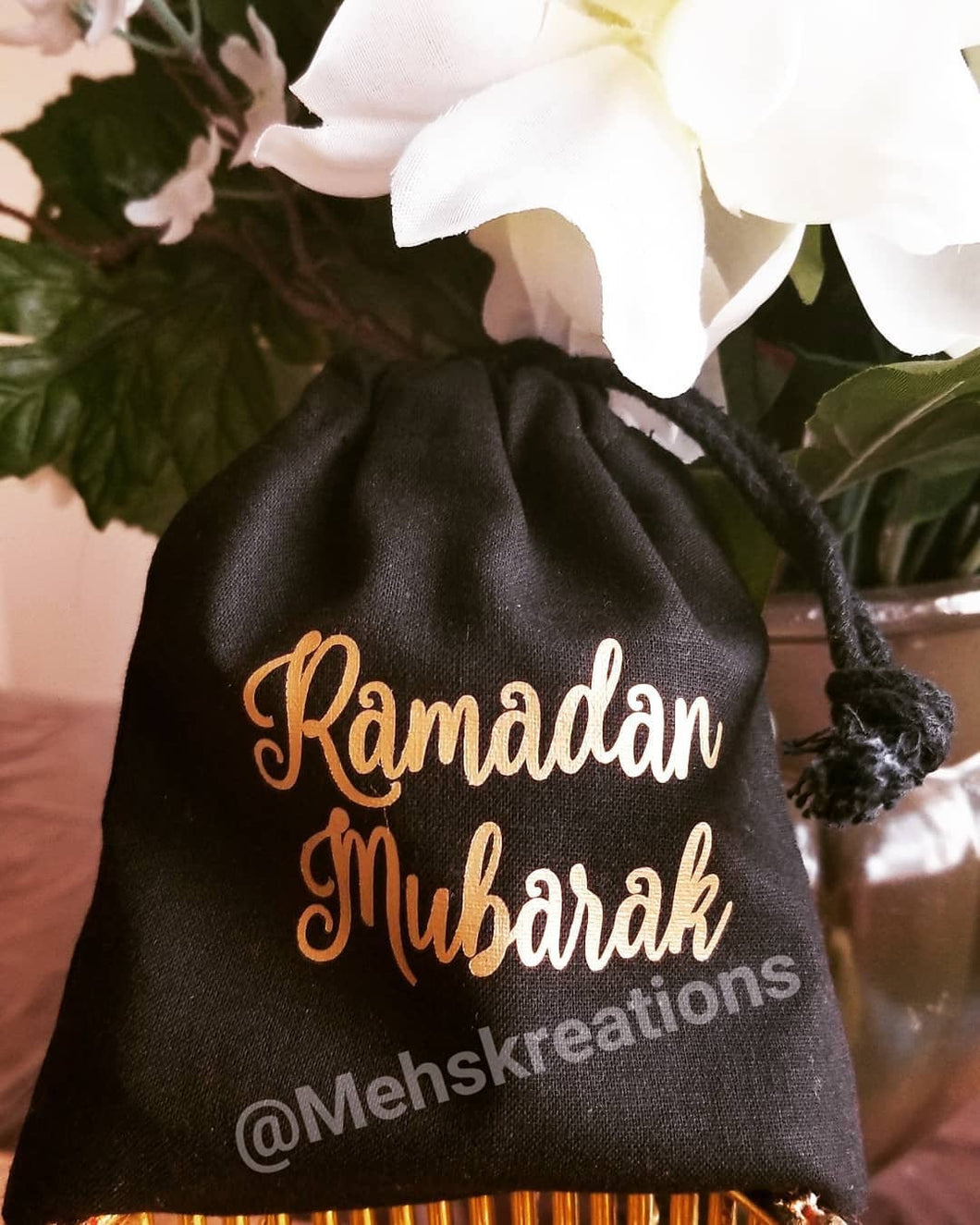 Ramadan Mubarak Favor Bags, Eid Mubarak favor bags, customizable
