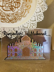 Ramadan Mubarak mosque decoration,