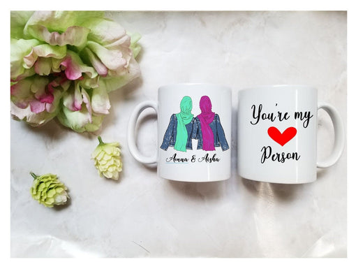 Hijabi Best Friend Mug, Muslim Best Friend Mug, Muslim Bestie Mug, Bff Mug