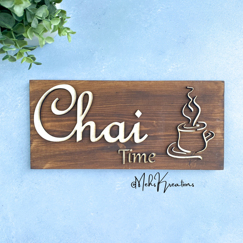 Chai Time Decorative Sign, Islamic Gifts, Muslim home