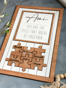 Ami, Mom, Mommy, Puzzle Frame