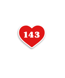 143 Sticker - Steel City