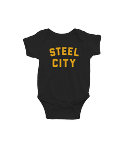 Steel City Logo Onesie - Black & Gold - Steel City