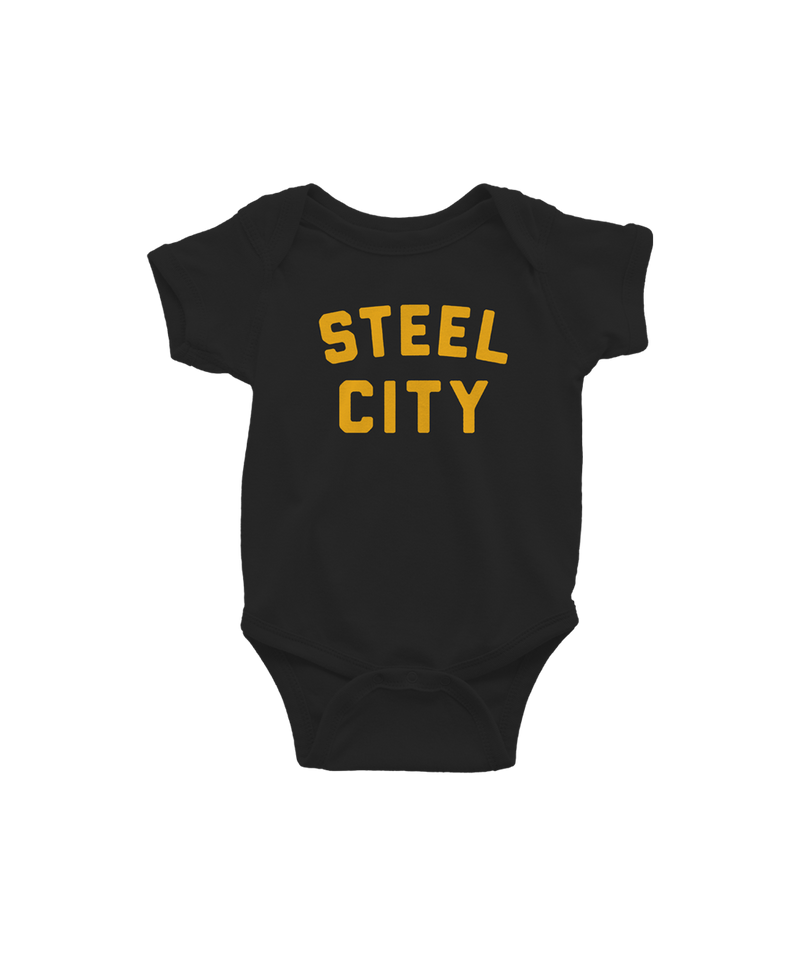 Steel City Logo Onesie - Black & Gold