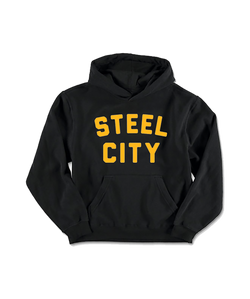 Steel City Pullover Hoodie - Youth Black & Gold - Steel City