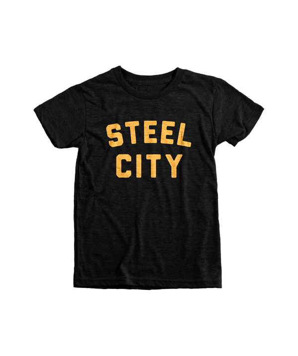 Steel City Logo - Black & Gold Kids - Steel City
