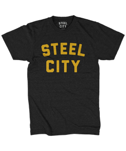 Steel City Logo - Black & Gold - Steel City