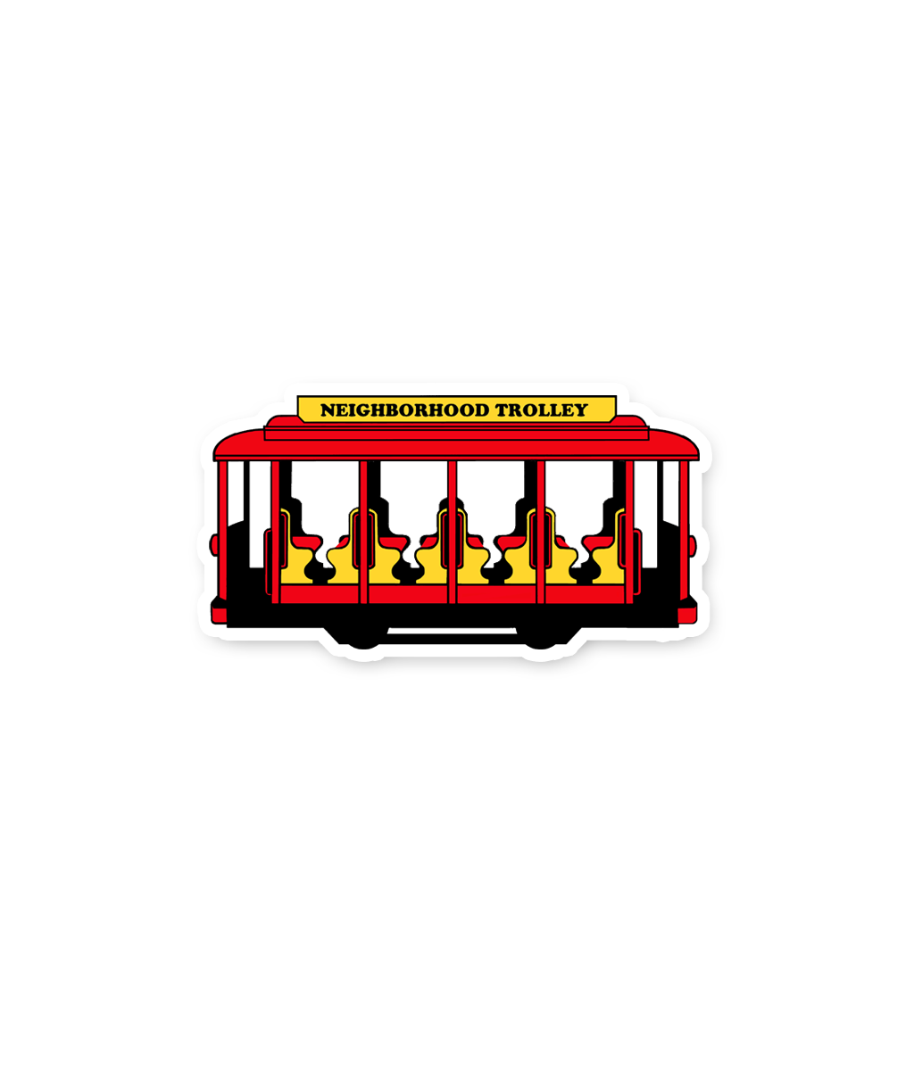 Trolley Sticker Mister Rogers Neighborhood Steel City Steel City Brand