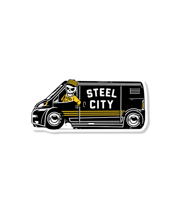 Steel City Van Sticker