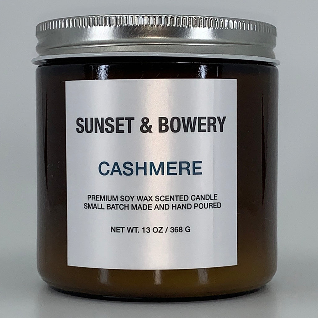 CASHMERE - 13 OZ AMBER GLASS JAR CANDLE