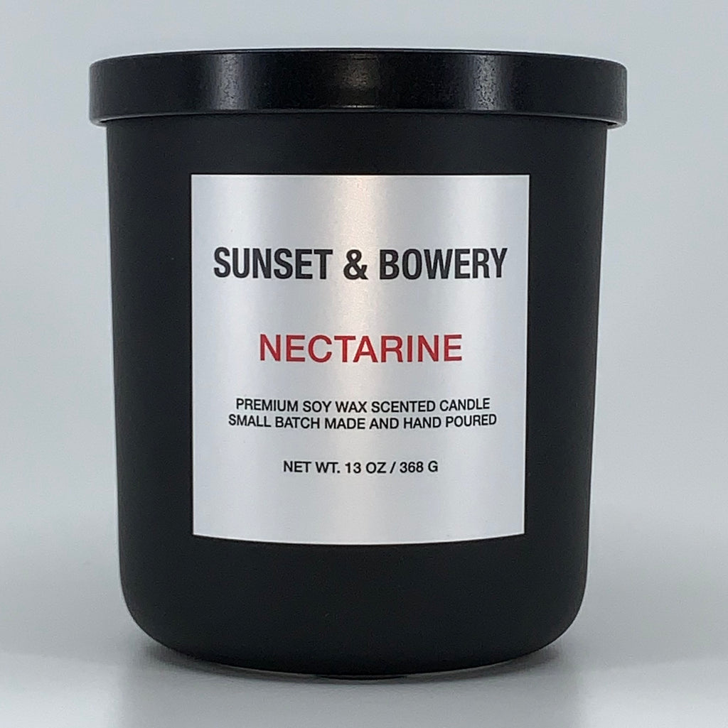 NECTARINE - 13 OZ MATTE BLACK CANDLE