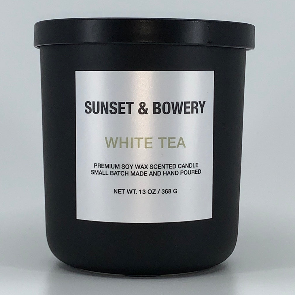 WHITE TEA - 13 OZ MATTE BLACK CANDLE