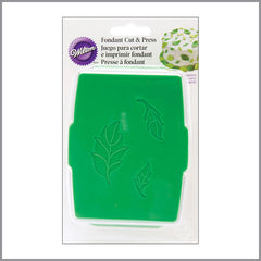 Wilton - Juego para cortar e imprimir fondant. Hoja de rosa | Art and Craft Shop