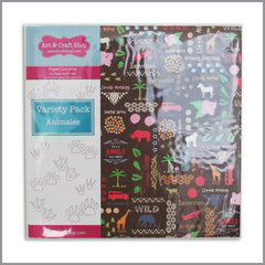 Cartulina - Variety Pack Animales 12 hojas de 30,5x30,5 | Art and Craft Shop