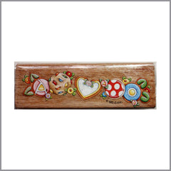 Timbre de Madera - Floral 7 cm. | Art and Craft Shop