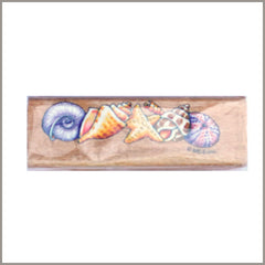 Timbre de Madera - Conchitas de Mar  7 cm. | Art and Craft Shop