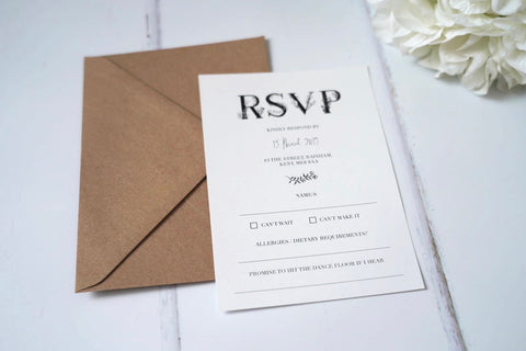 Minimal Modern Wedding Stationery