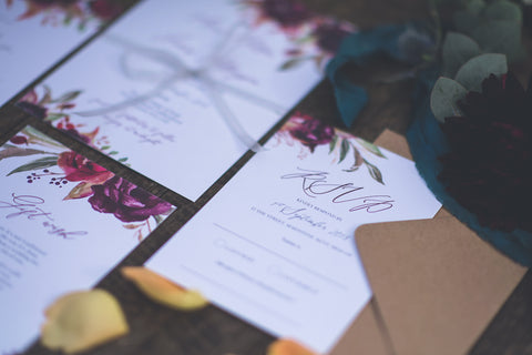 Luxury Fall Wedding Invites