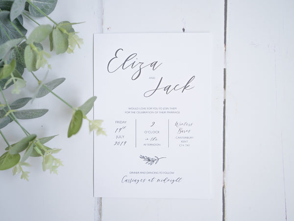 Modern & Affordable Wedding Stationery