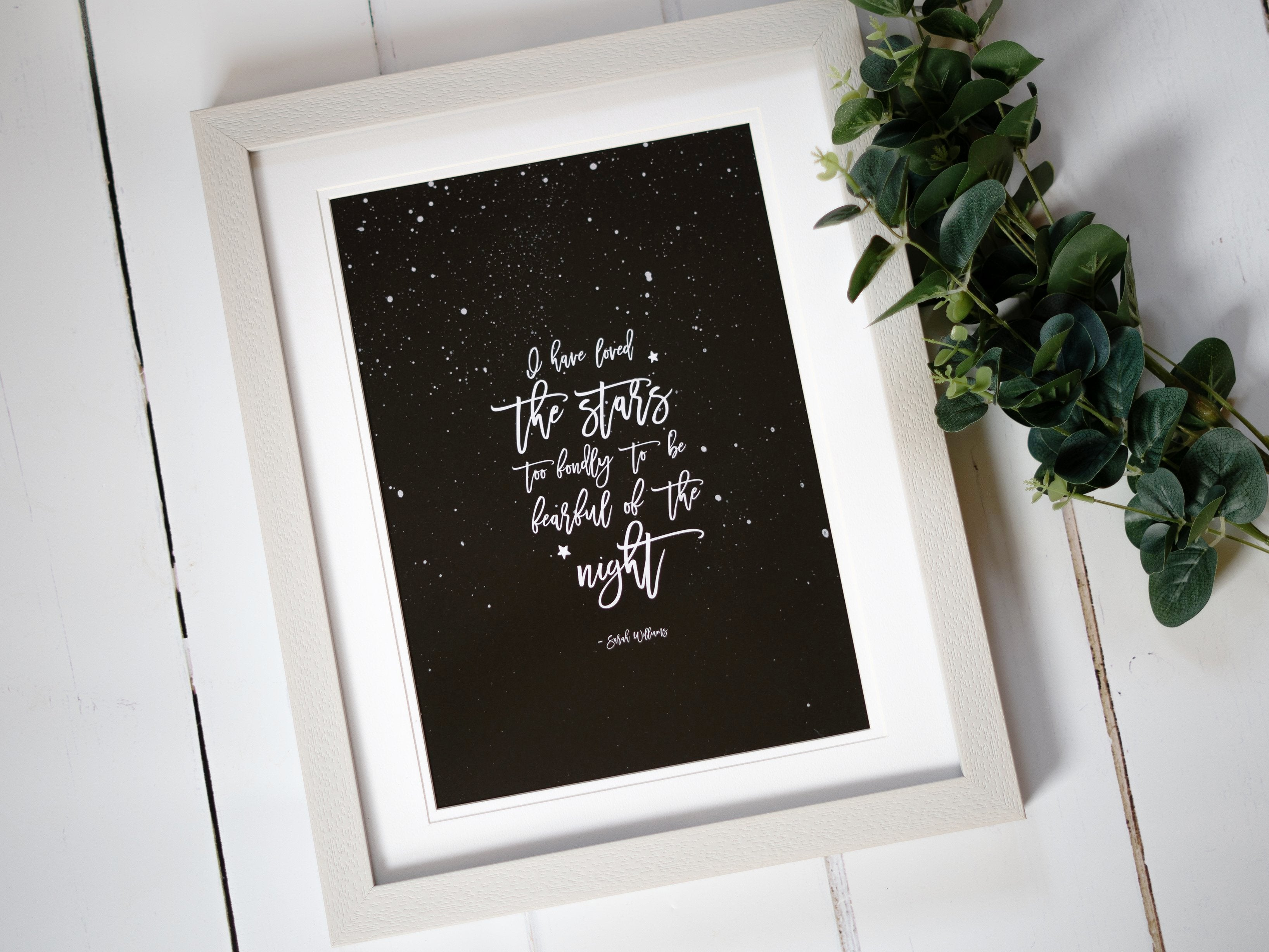 'I Have Loved the Stars' Quote Print (Supports Macmillan)