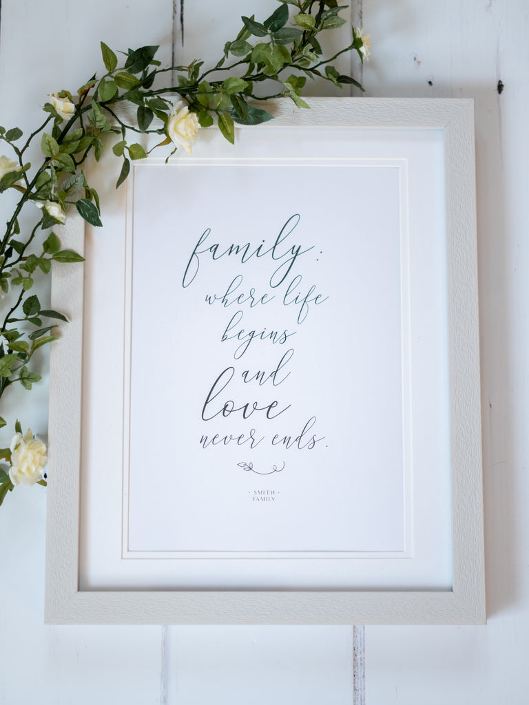 Personalised Family Quote Print