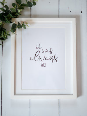 Quote Print Gift