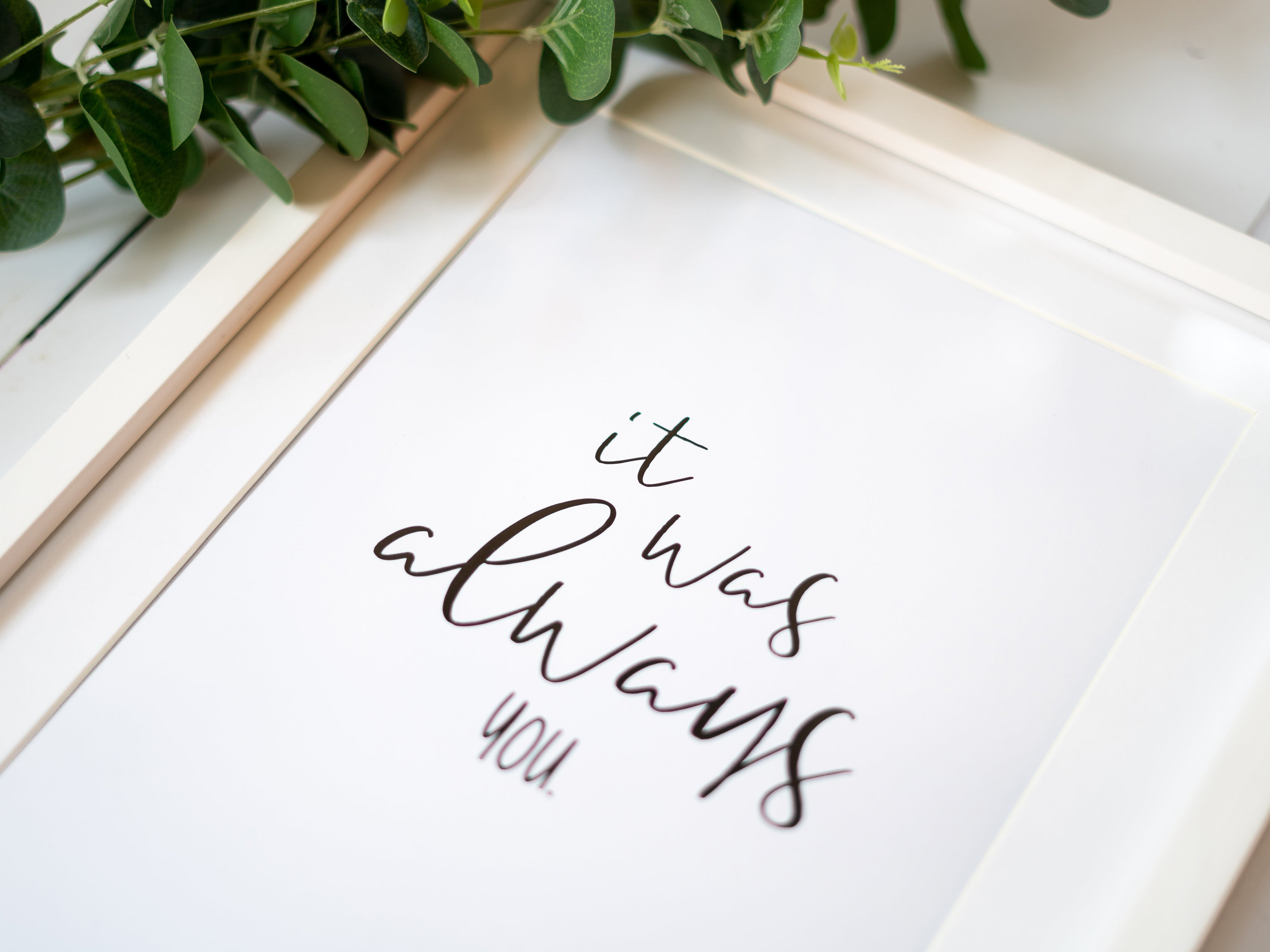 Wedding Quote Print Gift