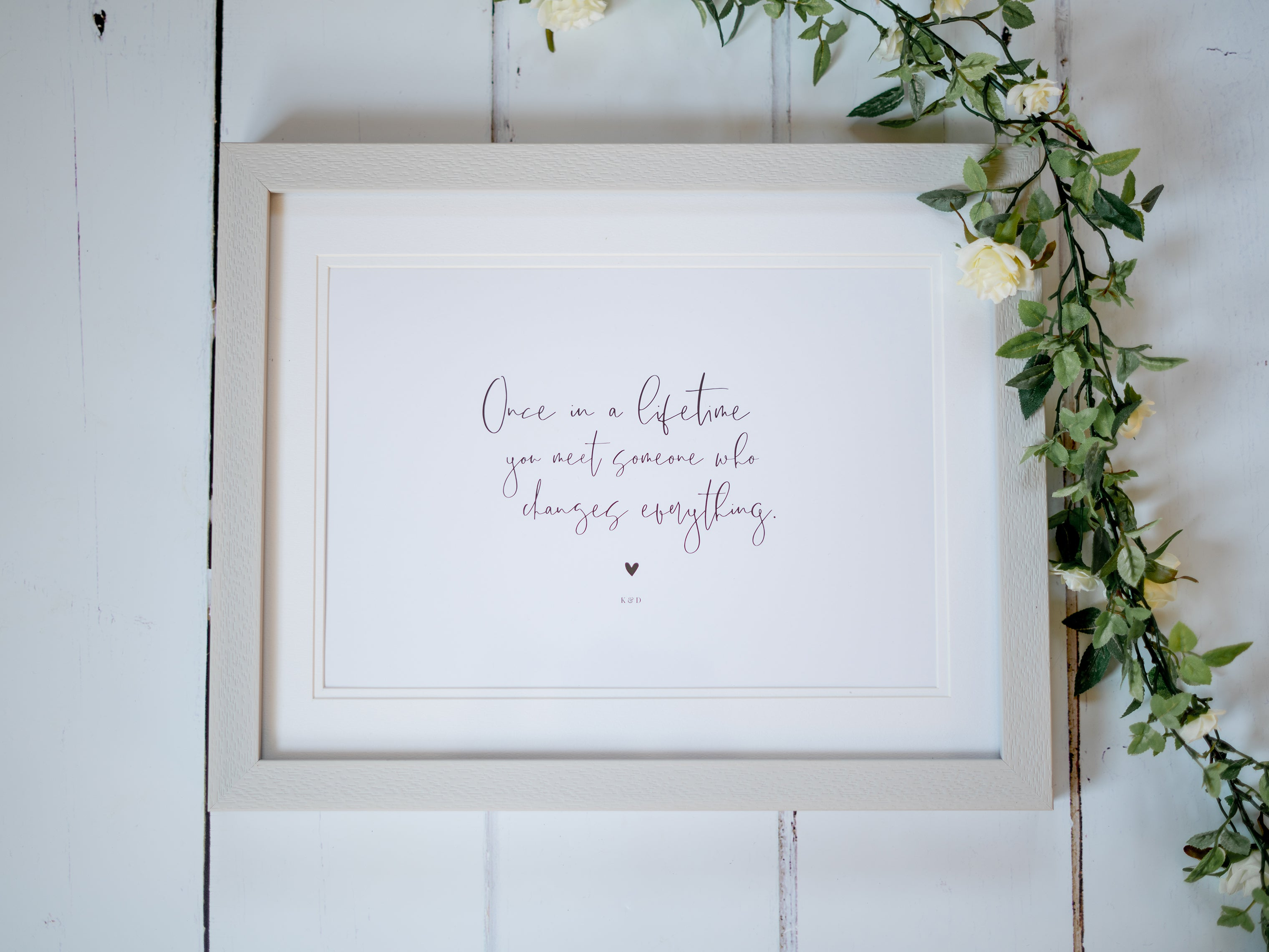 Personalised Wedding Quote Print