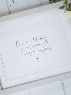 Personalised Love Quote Print