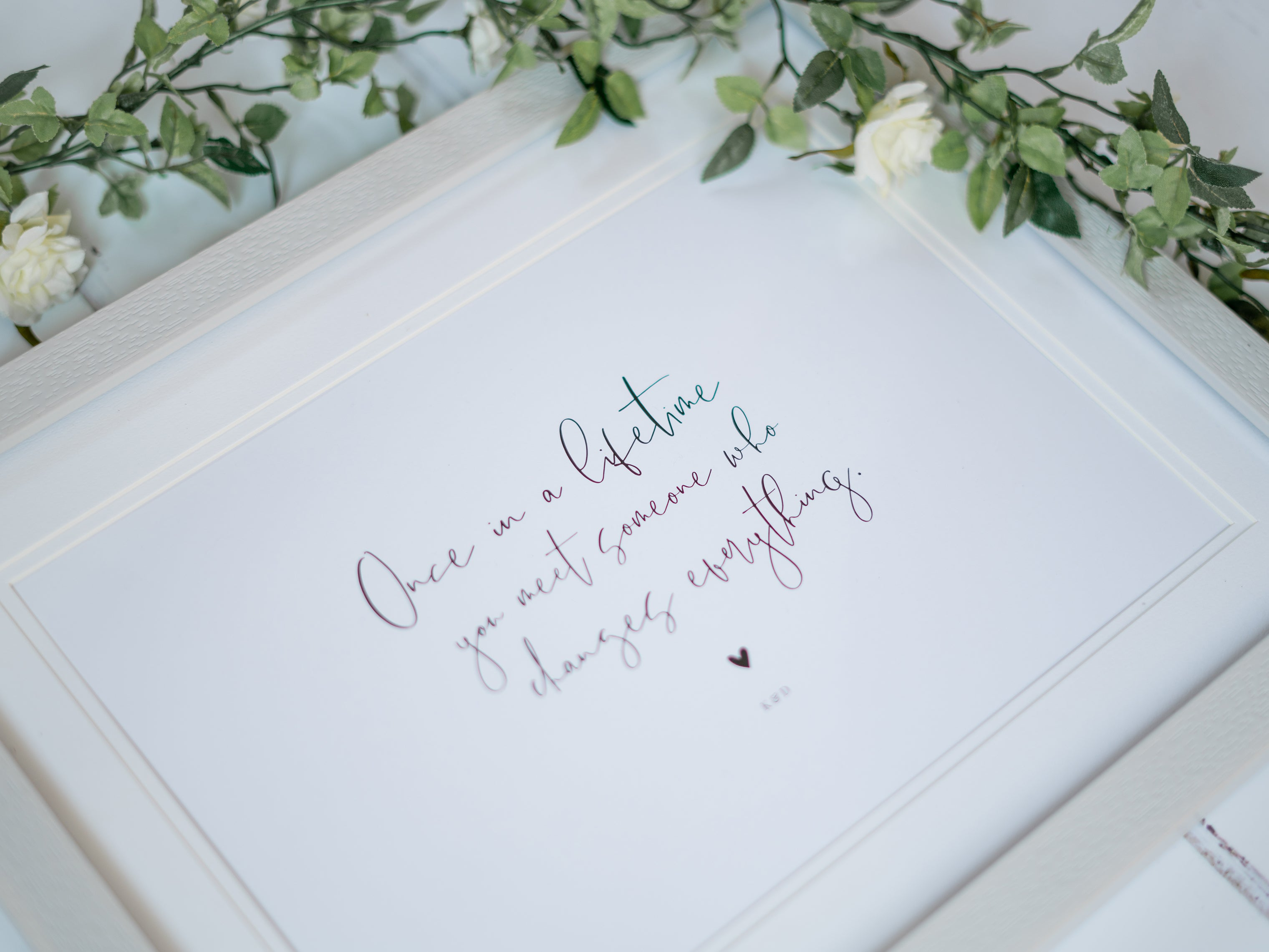 Personalised Keepsake Quote Print