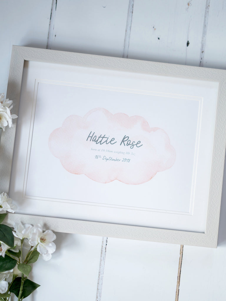 Baby Keepsake Birth Print
