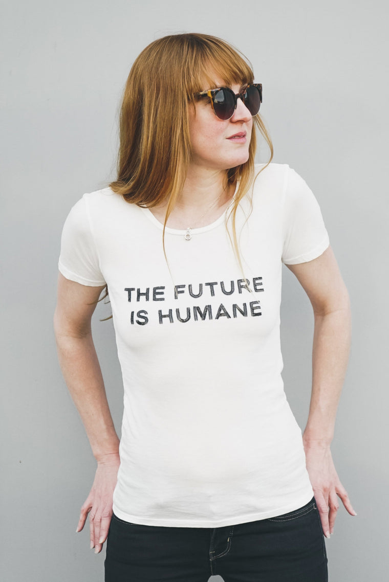 FUTURE IS HUMANE TOP - BLACK SEQUINS