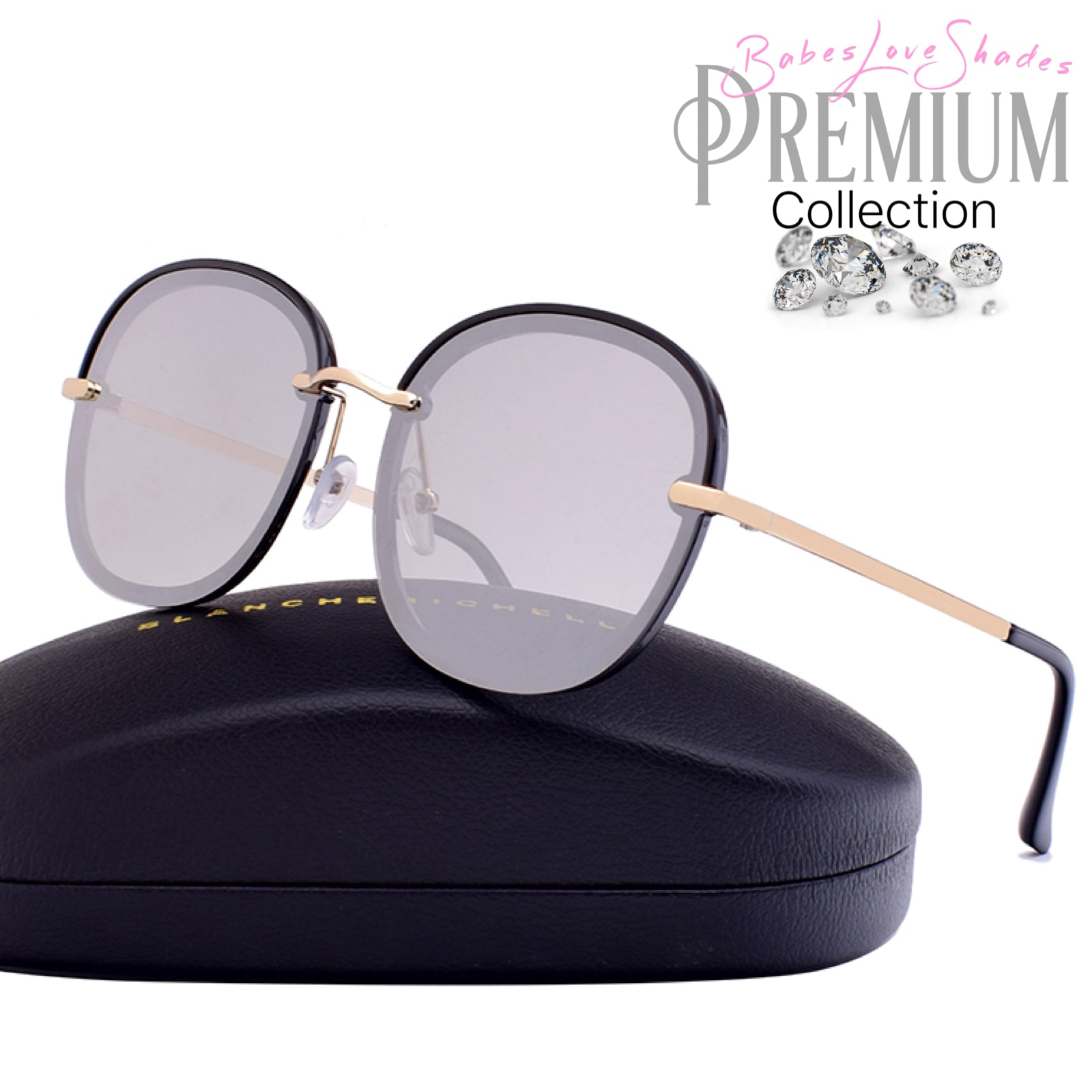 9d1a99fd4c Paloma - Oversized Mirrored Sunglasses  Premium Collection  – Babes ...