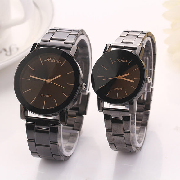 Classic Quartz Couple Watches